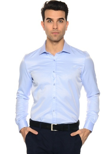 Cotton Bar Gömlek Mavi